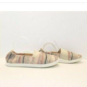 Roxy Danaris Striped Slip-On Flat Shoes